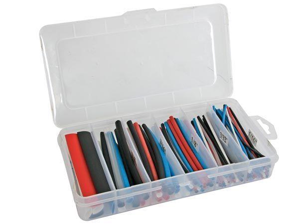 lot de gaines thermorétractables - multicolore 10cm - 170 pcs - dans coffret de rangement