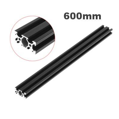rail profilé noir  v-slot 2040 aluminium  20mm x 40mm x 600mm