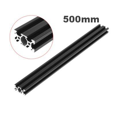 rail profilé noir  v-slot 2040 aluminium  20mm x 40mm x 500mm
