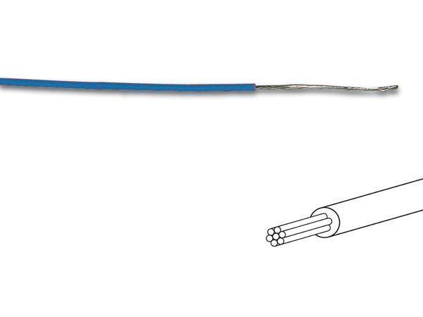 câble multibrin 0.2mm2 bleu au mètre