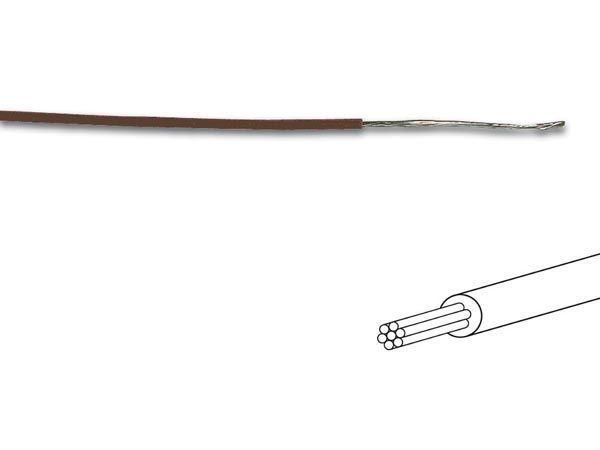 câble multibrin 0.2mm2 marron au mètre