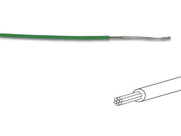 câble multibrin 0.2mm2 vert au mètre