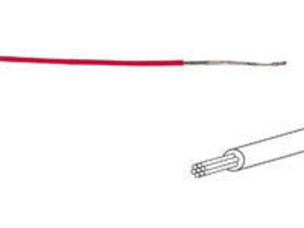 câble multibrin 0.50 mm2 rouge au mètre