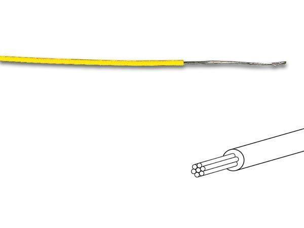 câble multibrin 0.2mm2 jaune au mètre