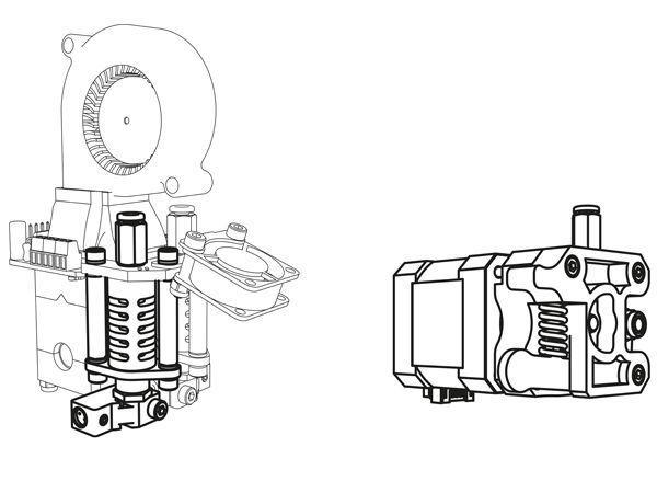 2ieme tête pour imprimante 3d k8400 vertex