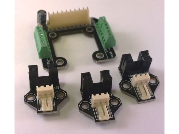 platine extrudeur + 3 module fin de course