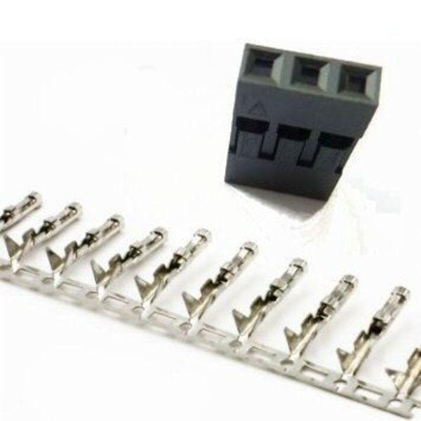 5x connecteurs dupont 3 pins + fiches métaliques