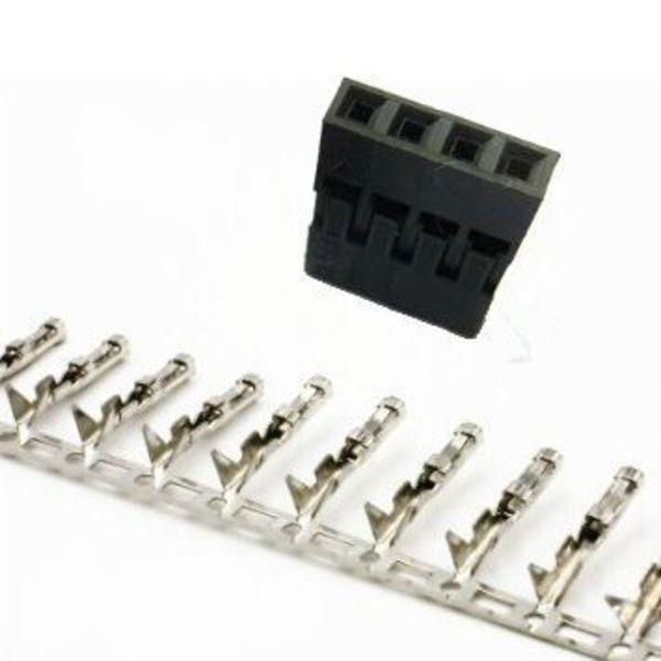 5x connecteurs dupont 4 pins + fiches métaliques