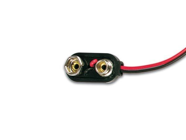 contact a pression pour 1 x pile 9v (type i)