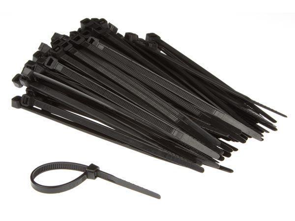 jeu de serre-câbles en nylon - 4.6 x 120 mm - noir (100 pcs)