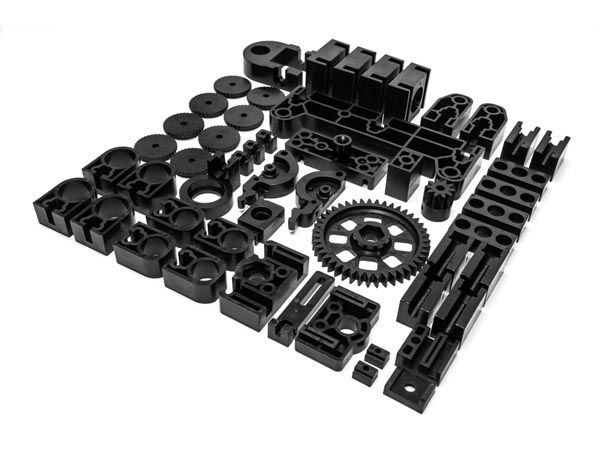 jeu de pièces en plastique noires pour k8200 - imprimante 3d (pièce de rechange)