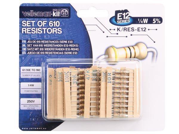 jeu de 610 résistances (série e12)