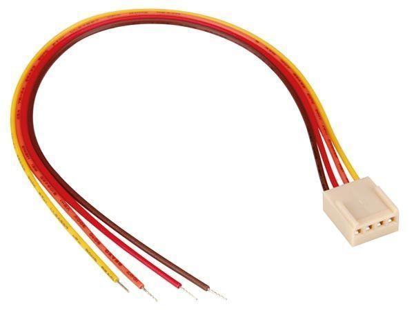 connecteur avec cable pour ci - femelle - 4 contacts / 20cm