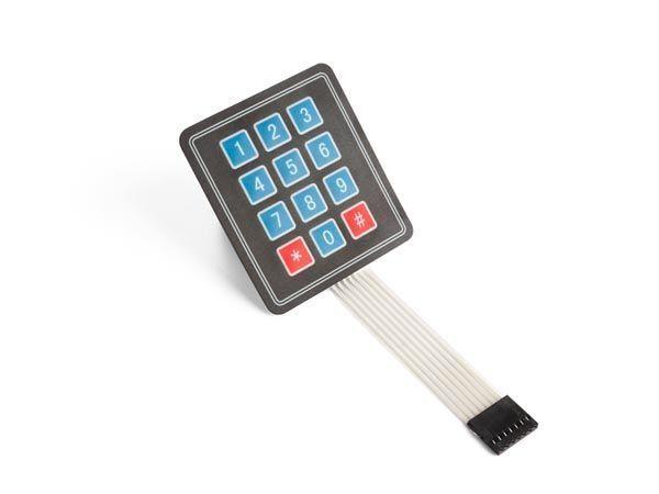 clavier à membrane 3 x 4