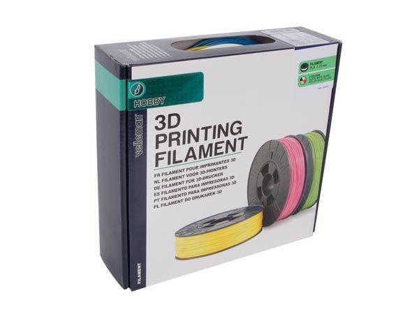 jeu de filament pla 1.75 mm - 6 couleurs - pour imprimante 3d et stylo 3d
