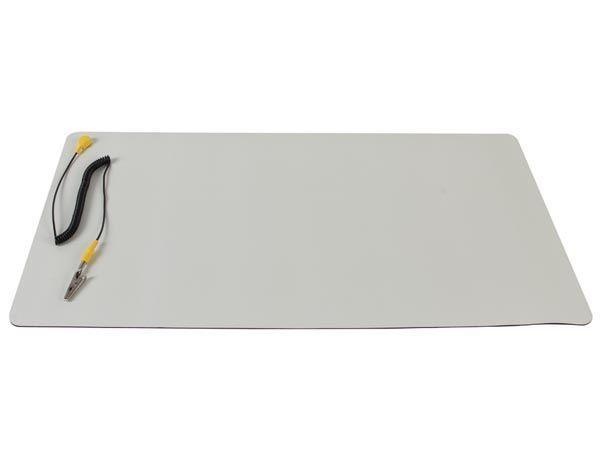 tapis antistatique dissipatif avec cordon de terre - 30x55cm