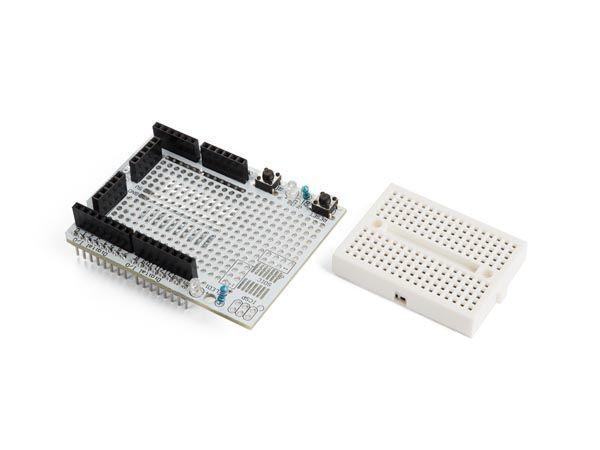 carte d'experimentation avec mini platine d'essai pour arduino® uno
