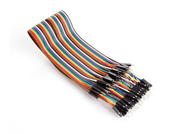 câble de liaison 40 broches 30 cm mâle vers mâle (câble plat)