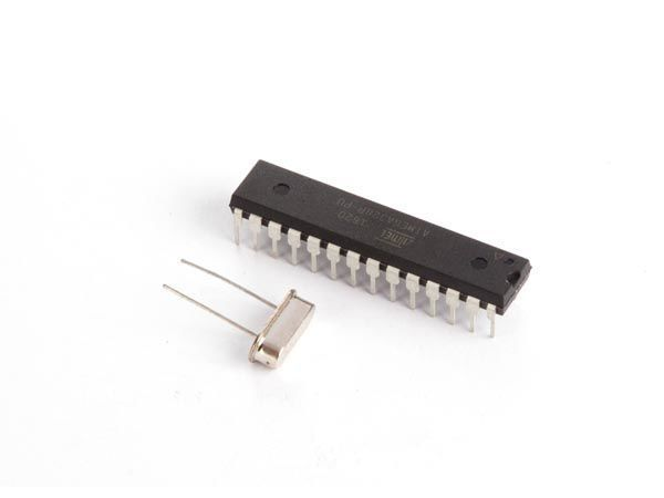atmega328p ci mcu avec bootloader arduino® uno et 16 mhz crystal