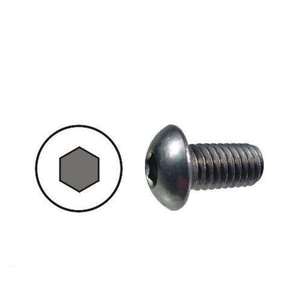 10x vis noires m5 x 8mm hexagonale à tête bombée