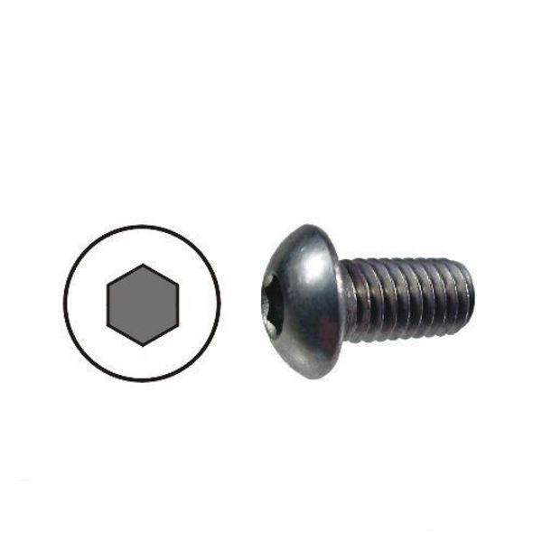 10x vis noires m3 x 10mm hexagonale à tête bombée