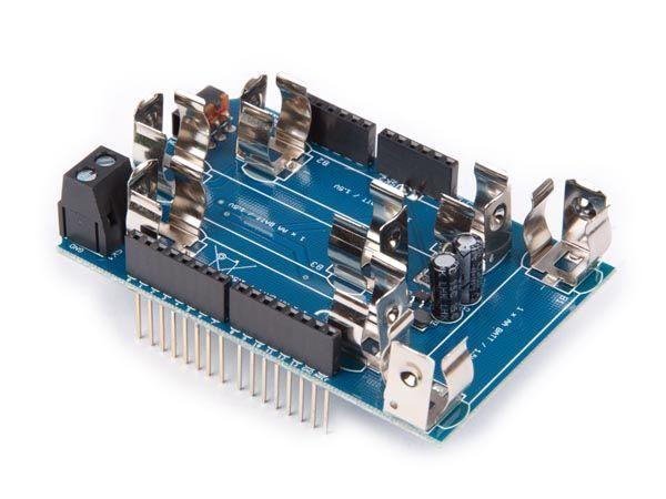 shield pour batteries pour allbot® ou platine arduiono uno ou mega