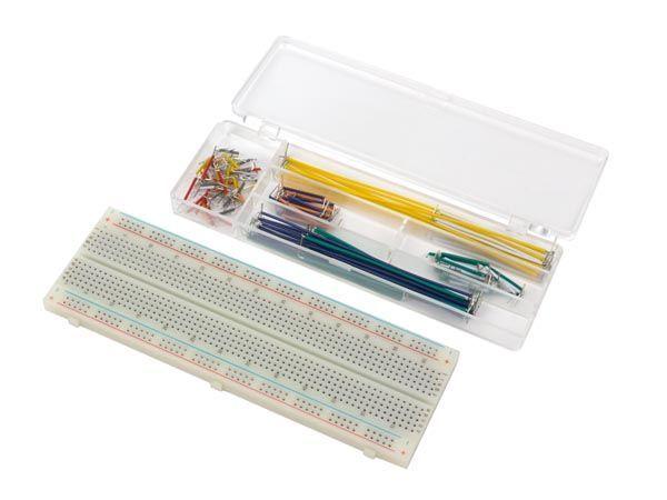 platine d'expérimentation sans soudure - 830 points de connexion + fils de raccordement - 140 pcs