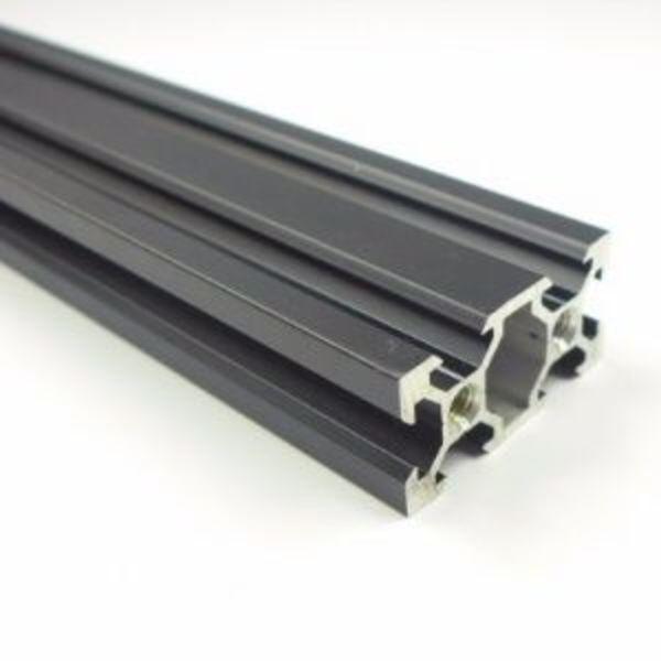 rail profilé noir v-solt 4020 aliminium 40mm x 20mm x1m