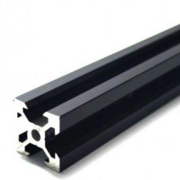 rail profilé noir  v-slot 2020 aluminium  20mm x 20mm x1000mm