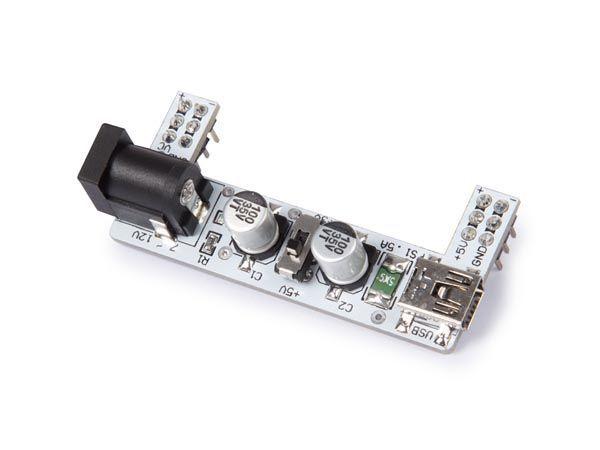 module d'alimentation pour breadboard -  2 canaux - 3.3 v / 5 v