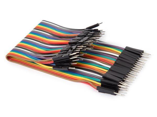 câble de liaison 40 broches 15 cm mâle vers mâle (câble plat)