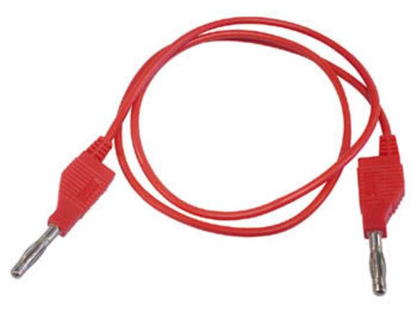 cordons de mesure (fiche banane 4mm) / rouge